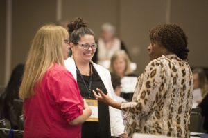 AAUW members chatting during a workshop at the 2017 Convention