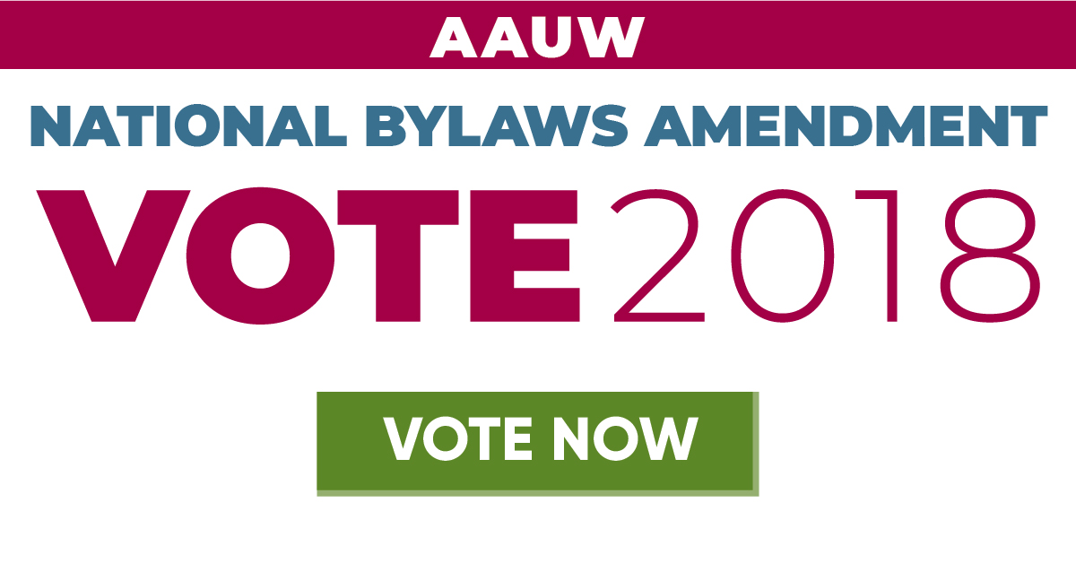 AAUW members voted for critical changes to the bylaws.