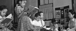 Washington, D.C. Reading lesson in a Negro elementary school. Public Domain. Library of Congress.