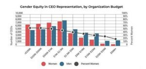 Gender Equity in CEO Representation, by Organization budget